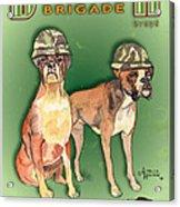 Boxer Brigade Chew Toys Acrylic Print by Amelia Hunter