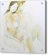 Boy And Girl Acrylic Print by Barbara Anna Cichocka