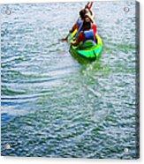Boys Rowing Acrylic Print by Carlos Caetano