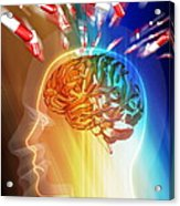 Brain Drug Acrylic Print by Pasieka