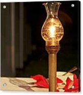 Brass Candle Romance Acrylic Print by Kantilal Patel
