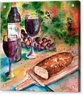 Bread And Wine Acrylic Print by Sharon Mick