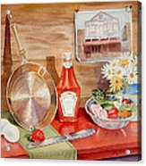 Breakfast At Copper Skillet Acrylic Print by Irina Sztukowski