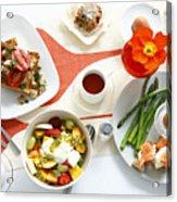 Breakfast Dishes On Table Acrylic Print by Cultura/BRETT STEVENS