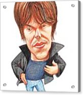 Brian Cox, Caricature Acrylic Print by Gary Brown