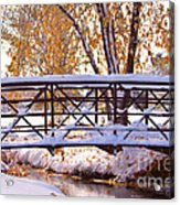 Bridge Over Icy Waters Acrylic Print by James BO  Insogna