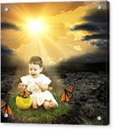 Bringing Innocence Back To Our Lives Acrylic Print by Rozalia Toth
