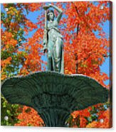 Broadway Fountain I Acrylic Print by Steven Ainsworth