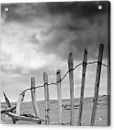 Broken Fence In Dune, South Shields Acrylic Print by John Short