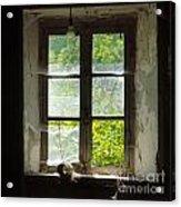 Broken Window. Acrylic Print by Bernard Jaubert