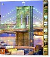 Brooklyn Bridge Acrylic Print by Tony Shi Photography