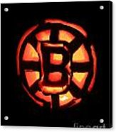 Bruins Carved Pumpkin Acrylic Print by Lloyd Alexander