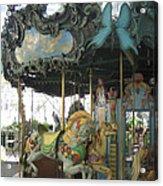 Bryant Park Carousel Acrylic Print by Blanche Knake
