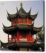 Buddhist Pagoda - Shanghai China Acrylic Print by Christine Till