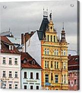 Budweis - Pearl Of Bohemia - Czech Republic Acrylic Print by Christine Till