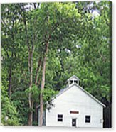 Buffalo Claylick School House  Greenbo Ky Acrylic Print by Tammy Ishmael - Eizman