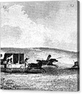 Buffalo Hunt, 1841 Acrylic Print by Granger