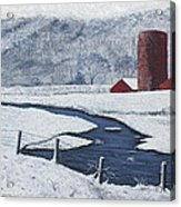 Buffalo River Valley In Snow Acrylic Print by Garry McMichael
