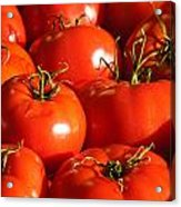 Bunch Of Tomatoes Acrylic Print by Connie Cooper-Edwards