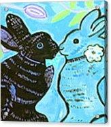 Bunnies In Love Acrylic Print by Patricia Lazar