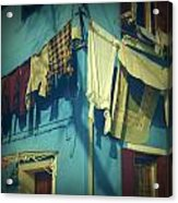 Burano - Laundry Acrylic Print by Joana Kruse