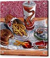 Burger King Value Meal No. 3 Acrylic Print by Thomas Weeks