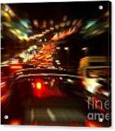 Busy Highway Acrylic Print by Carlos Caetano