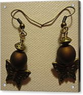 Butterfly Brown Earrings Acrylic Print by Jenna Green