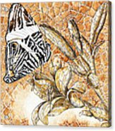 Butterfly Mosaic 02 Elena Yakubovich Acrylic Print by Elena Yakubovich
