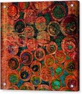 Buttons Acrylic Print by Ann Powell