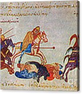 Byzantines Cavalrymen Pursuing The Rus Acrylic Print by Photo Researchers