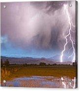 C2g Lightning Bolts Striking Longs Peak Foothills 6 Acrylic Print by James BO  Insogna