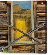Cabin Windows Acrylic Print by Jeff Kolker
