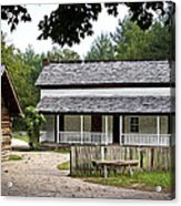Cable Mill Home Place Cades Cove Acrylic Print by Mike Aldridge