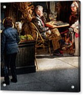 Cafe - Ny - High Line - Waiter I Would Like To Order  Acrylic Print by Mike Savad
