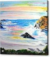 California Coast Acrylic Print by Susan  Clark