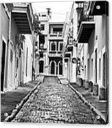 Calle De Guijarro Acrylic Print by John Rizzuto