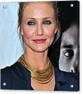 Cameron Diaz At Arrivals For The Box Acrylic Print by Everett