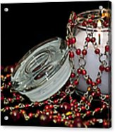 Candle And Beads Acrylic Print by Carolyn Marshall
