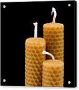 Candles Acrylic Print by Tom Gowanlock