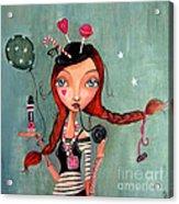 Candy Girl  Acrylic Print by Caroline Bonne-Muller