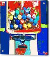 Candy Machine Pop Art Acrylic Print by ArtyZen Kids