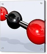 Carbon Dioxide Molecule Acrylic Print by Miriam Maslo