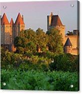 Carcassonne Dawn Acrylic Print by Brian Jannsen