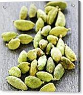 Cardamom Seed Pods Acrylic Print by Elena Elisseeva