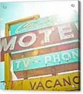 Carlyle Motel Acrylic Print by David Waldo