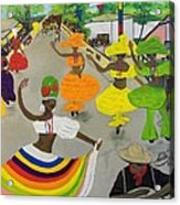 Carnival In Port-au-prince Haiti Acrylic Print by Nicole Jean-Louis
