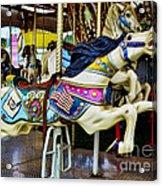Carousel - Horse - Jumping Acrylic Print by Paul Ward