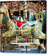 Carrouse Horse Paris France Acrylic Print by Garry Gay