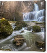 Cascade Of Billaud Acrylic Print by Philippe Saire - Photography